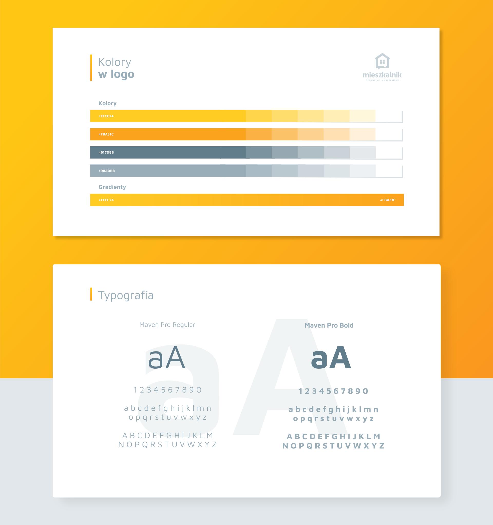typografia i kolory dobrane do logo