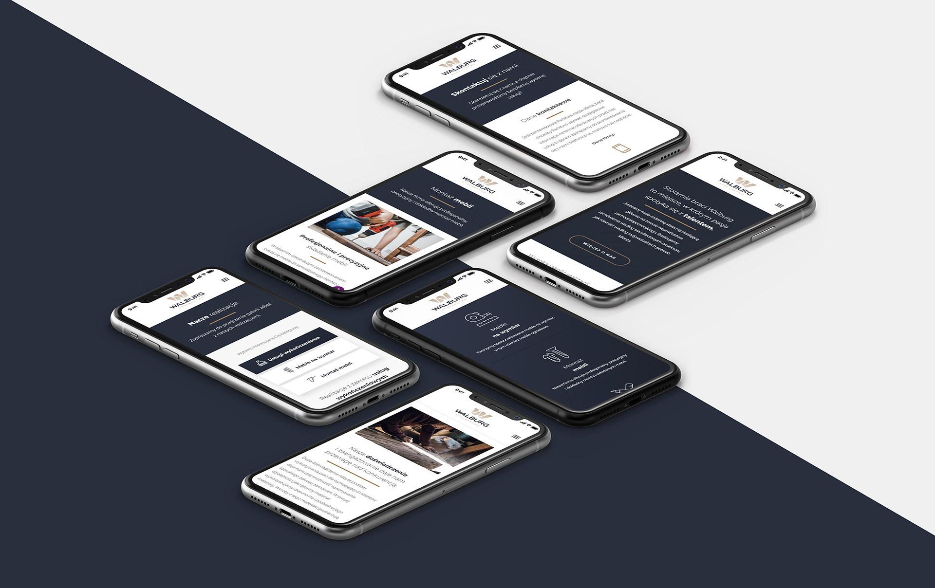 Strona internetowa dla stolarza wersja mobilna
