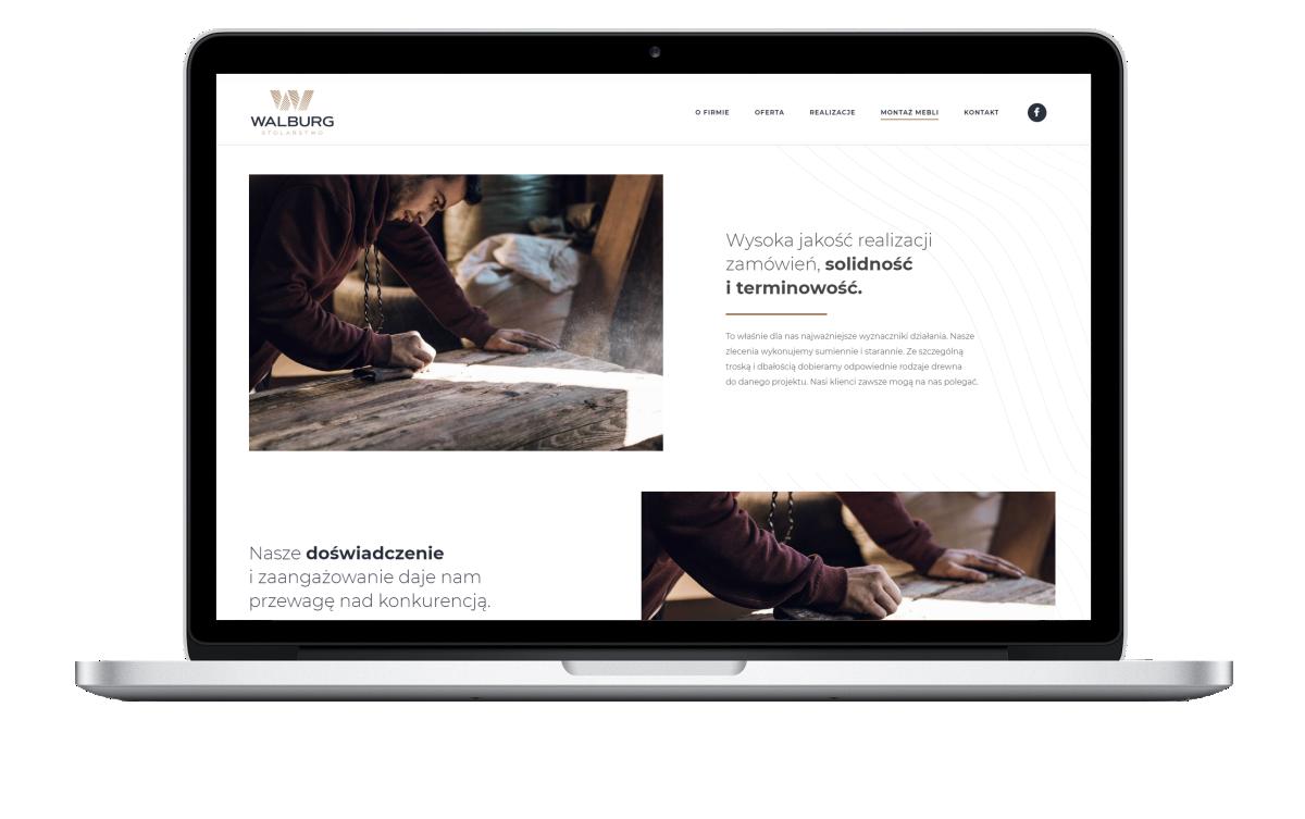 Strona internetowa stolarni