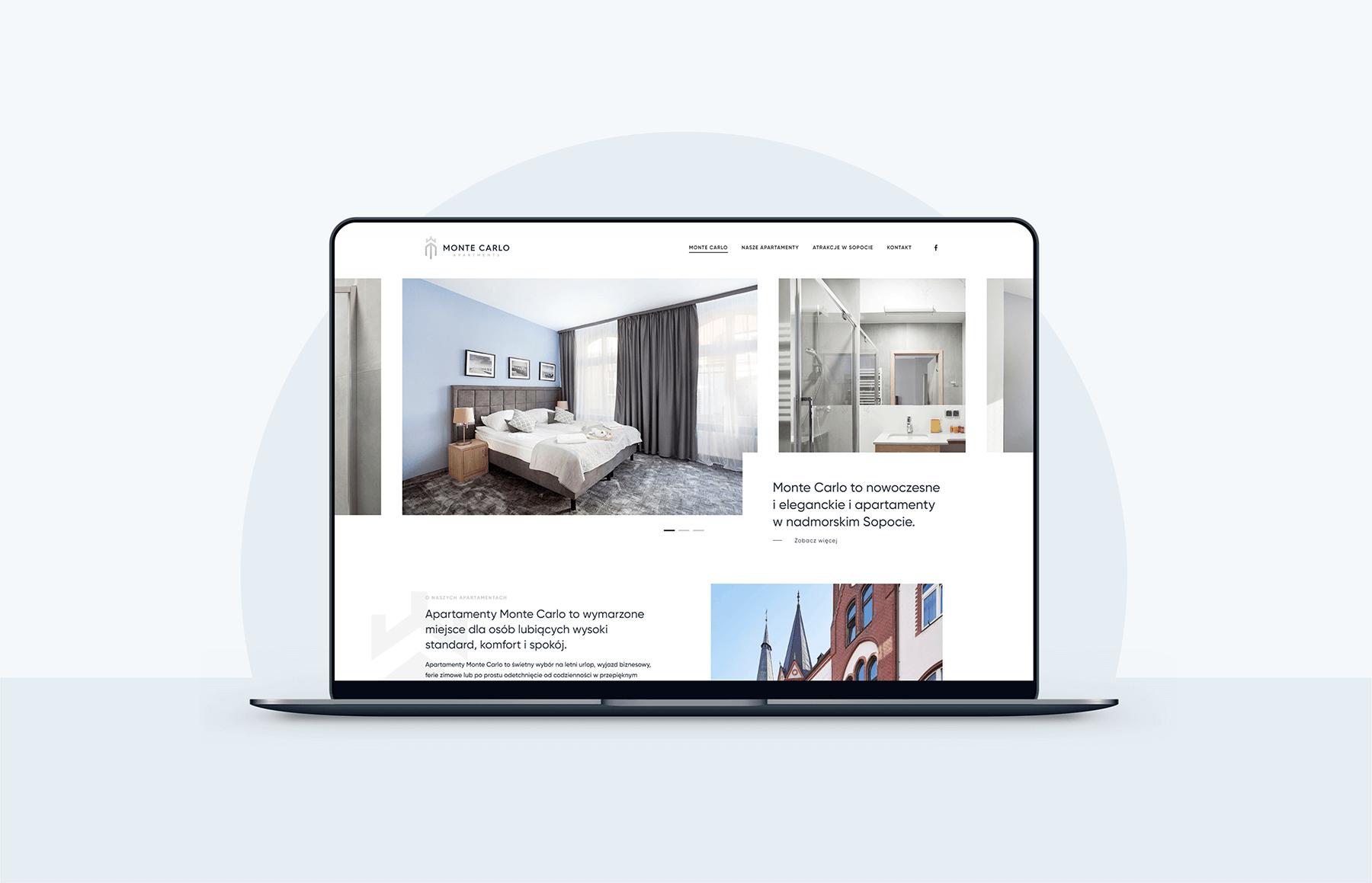 projekt strony internetowej dla apartamentów wsopocie