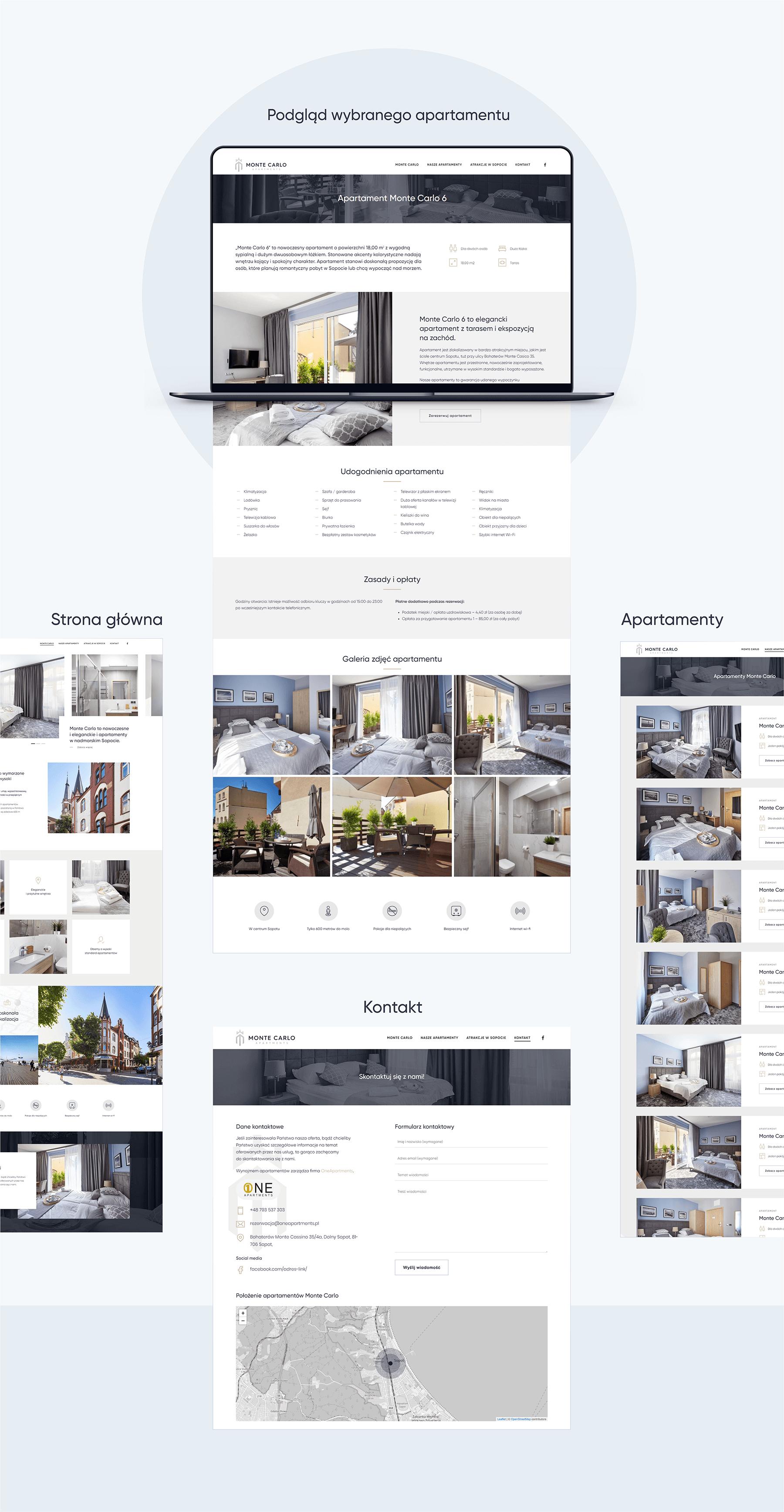 Projekt strony www dla apartamentów wSopocie
